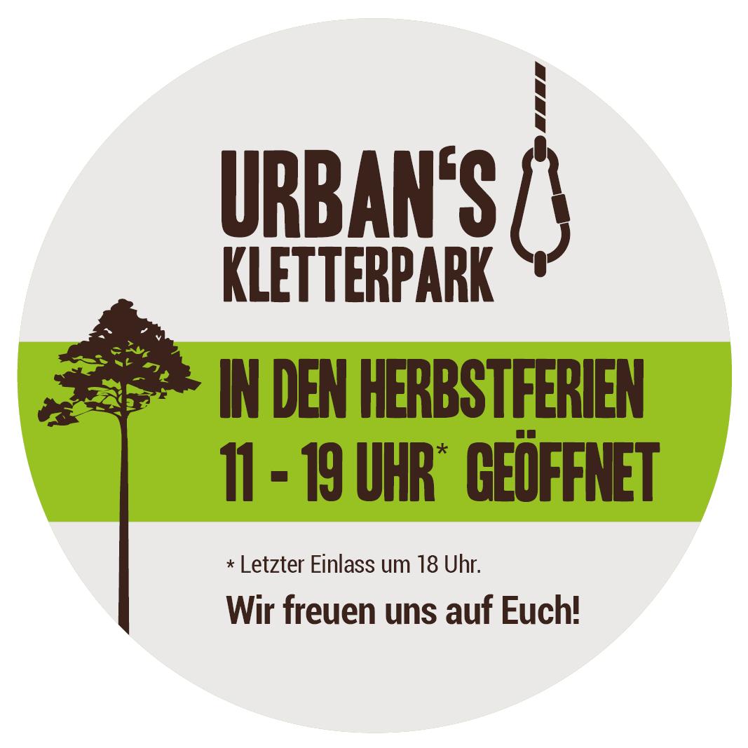 Urbans Kletterpark // in den Herbstferien von 11 bis 19 Uhr geöffnet